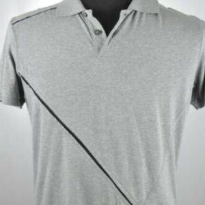 VERSACE Gray Polo Shirt Small / Fitted Medium
